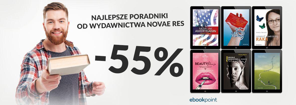 Promocja na ebooki Najlepsze poradniki od Wydawnictwa Novae Res [-55%]